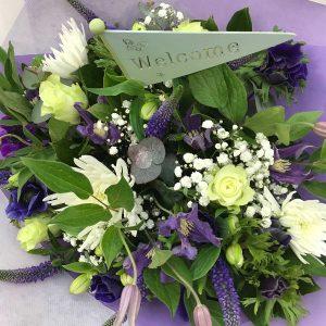 Geboorteboeket Paars €25 Scheerhoorn Bloemen Leek