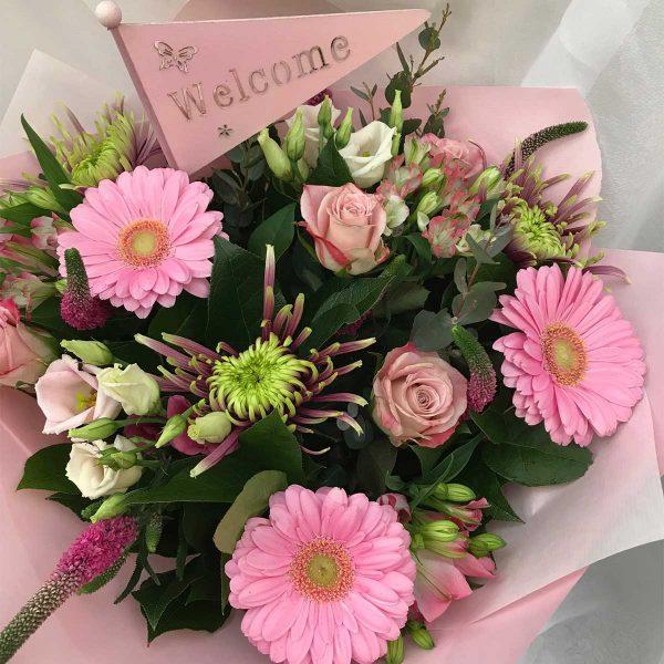 Geboorteboeket Rosé €25 Scheerhoorn Bloemen Leek