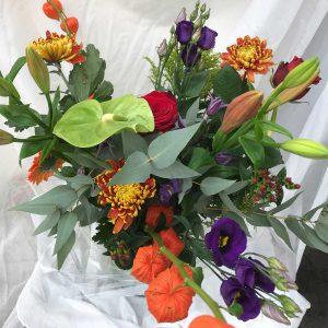 Boeket Harde Wind €29,99 Scheerhoorn Bloemen Leek