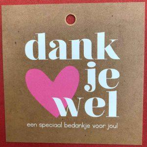 Kaartje 'Dankjewel' Scheerhoorn Bloemen Leek