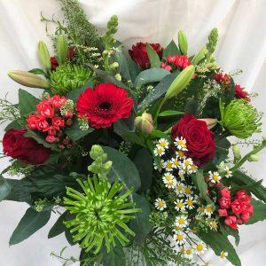 Valentijnsboeket €35 'Grote Liefde' Scheerhoorn Bloemen Leek