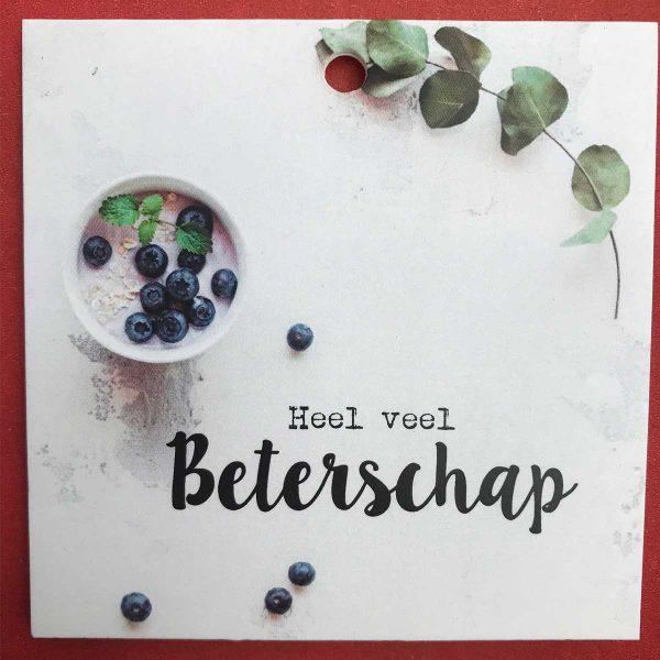 Kaartje 'Beterschap' Scheerhoorn Bloemen Leek