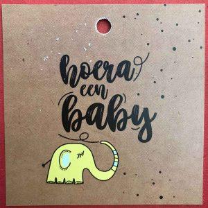 Kaartje 'Baby' Scheerhoorn Bloemen Leek