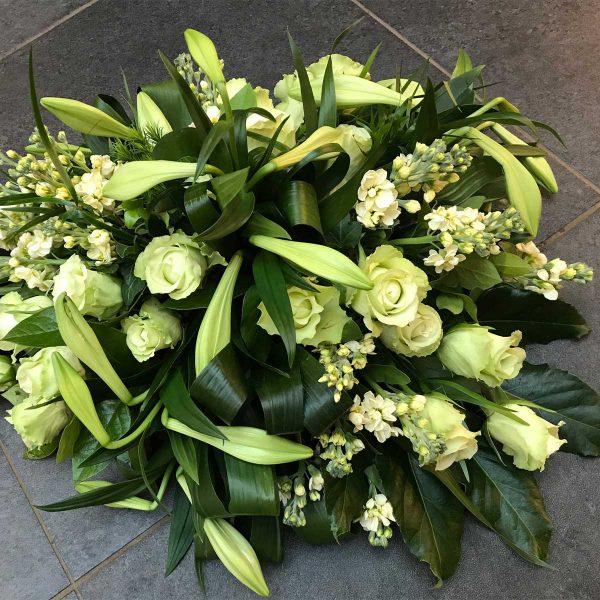 Rouwboeket €185 Scheerhoorn Bloemen Leek