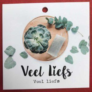 Kaartje 'Liefs' Scheerhoorn Bloemen Leek
